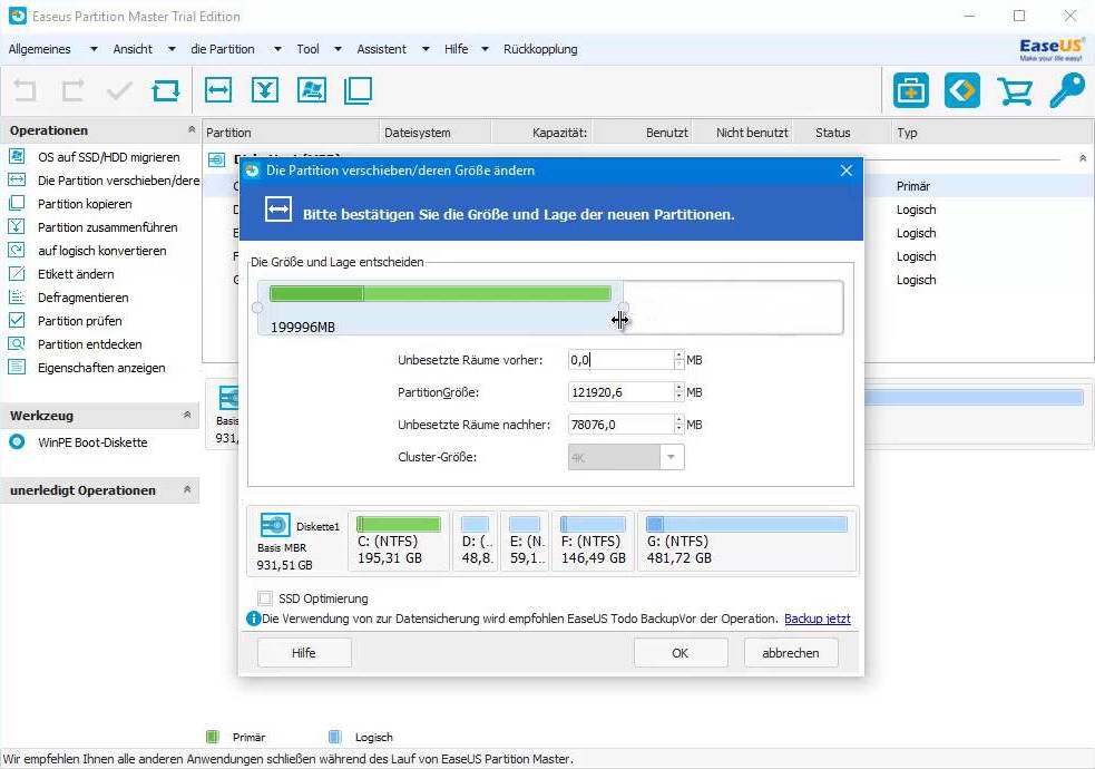 EaseUS Partition Master Freeware